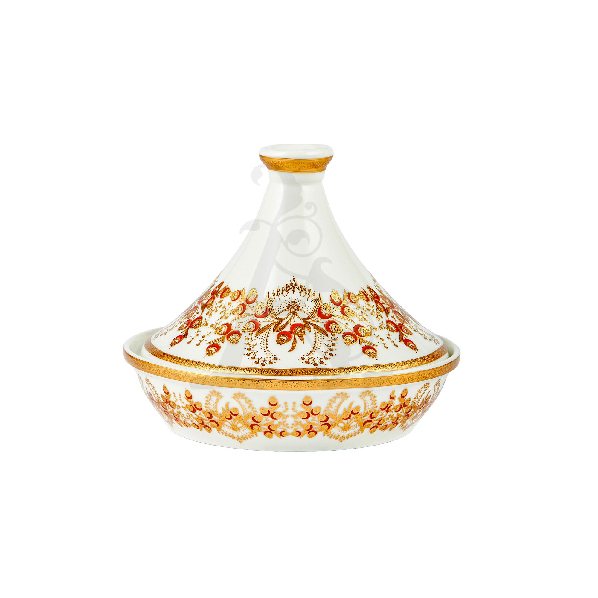 Buy Victoriana tajine dessert server with decal - Gold 3