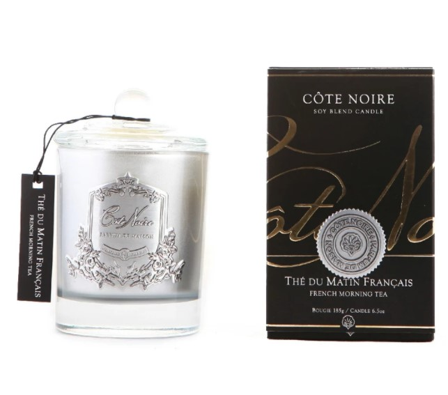Buy French Morning Tea - Silver Badge Candle 450 gr