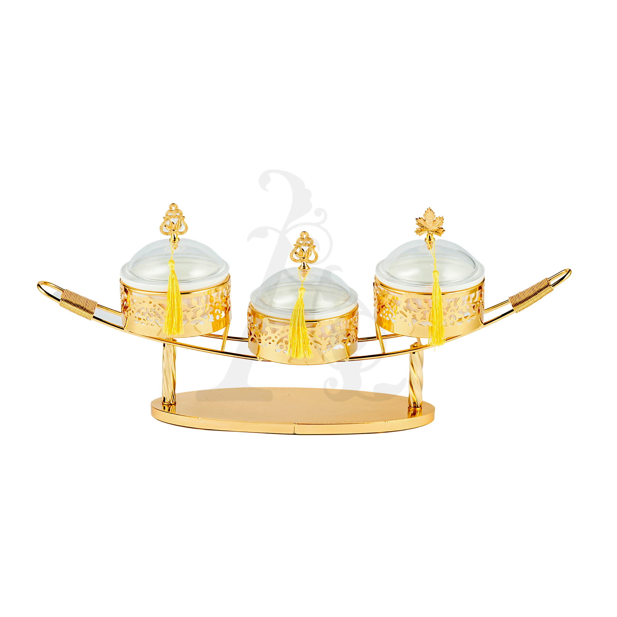 Buy Delight Servers Ship 3 Pieces Gold and White 60x13