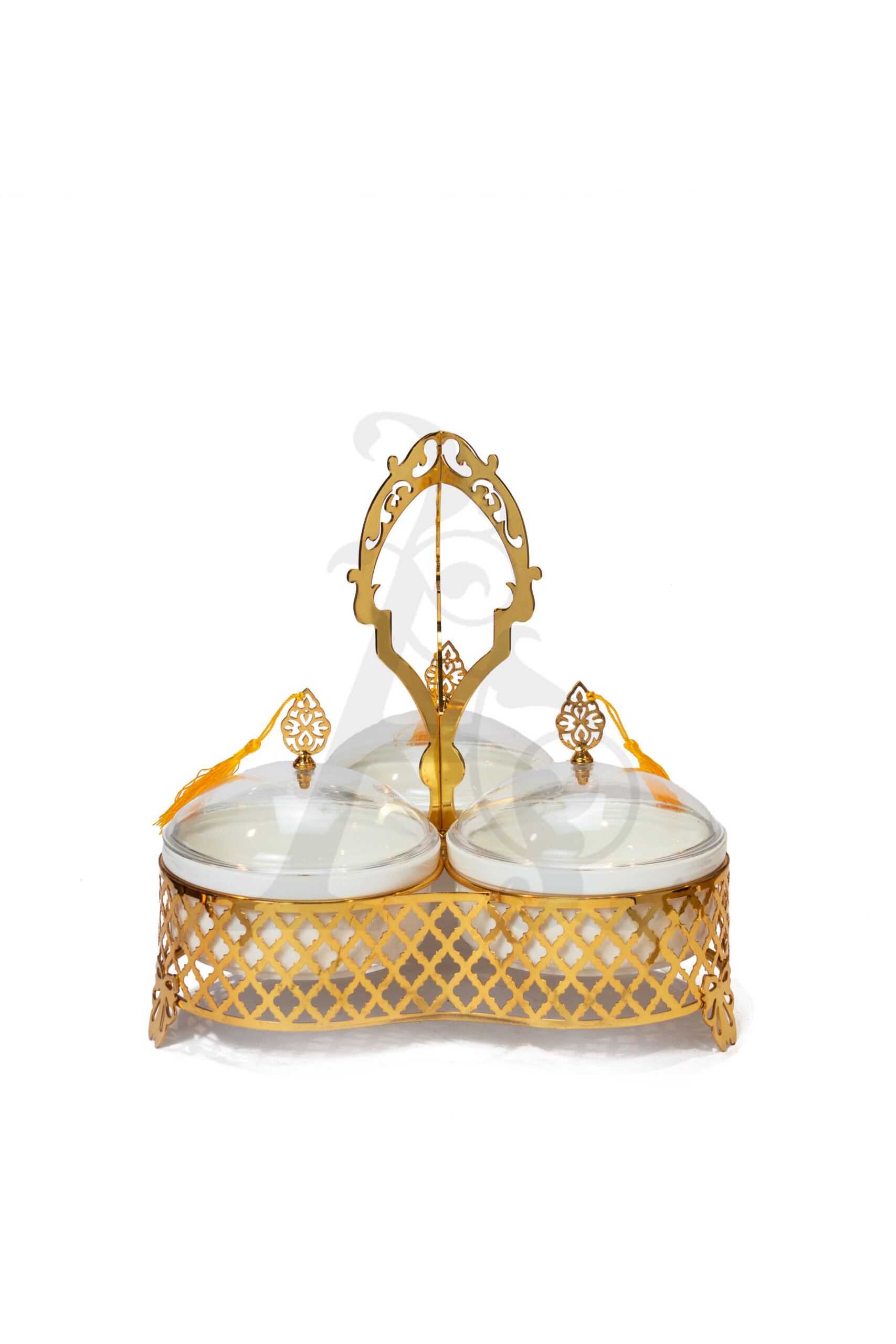 Buy Delight Servers 3 Pieces Gold and White 32x32