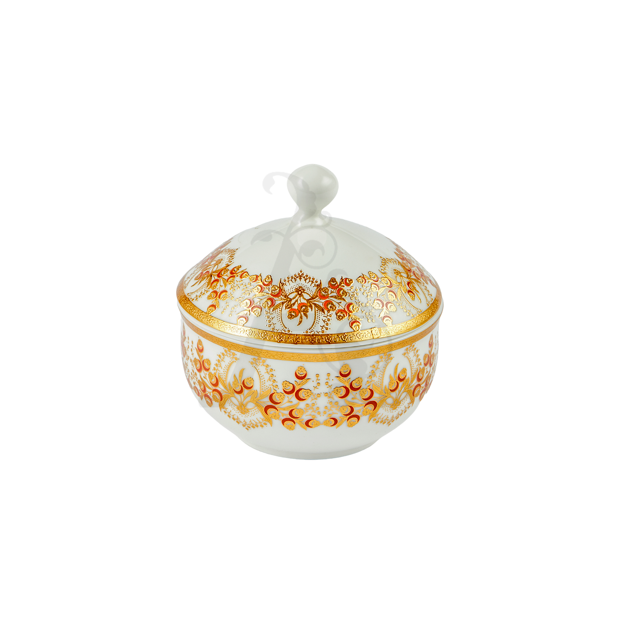 Buy Victoriana sugar pot with cover - Gold 4