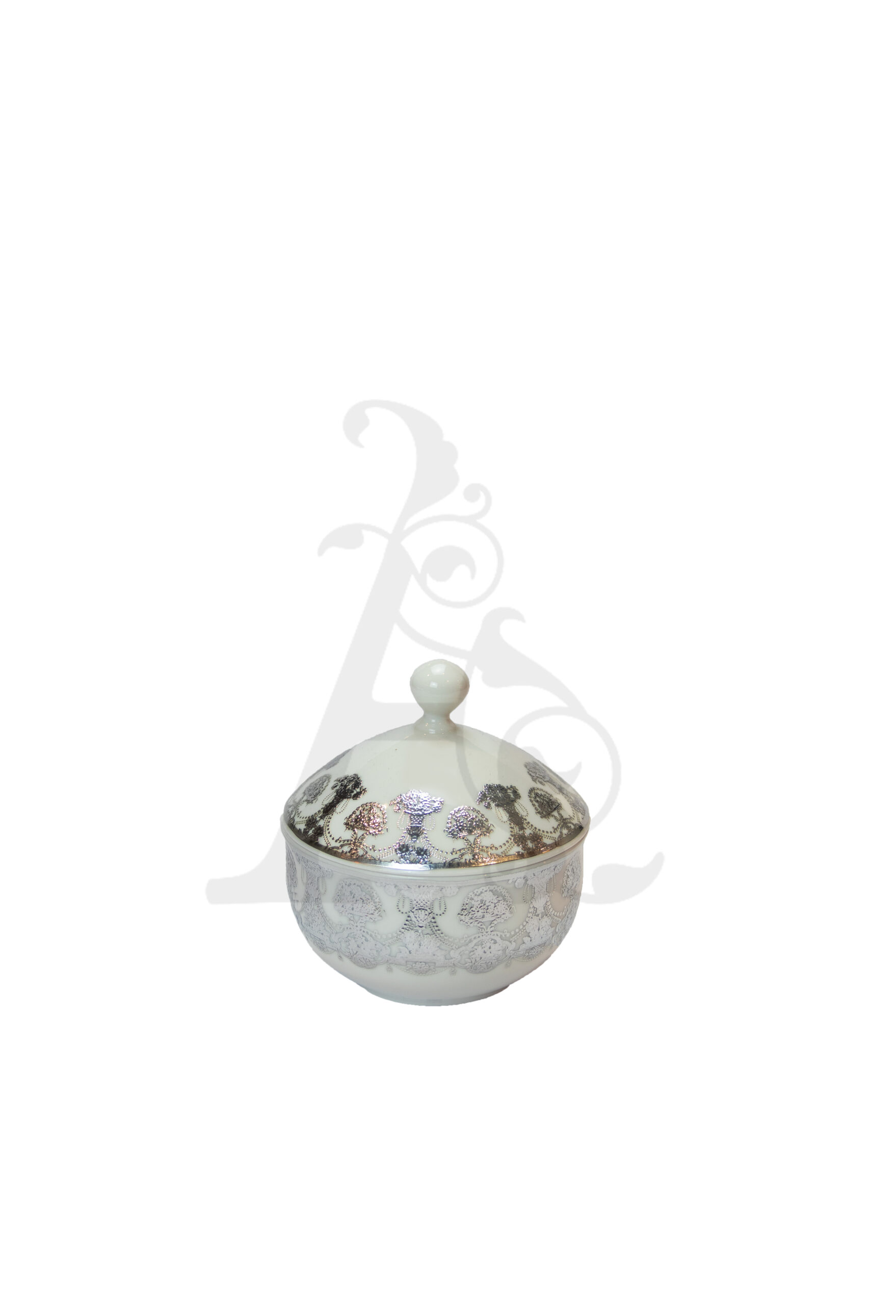 Buy Victoriana sugar pot with cover - Silver 3