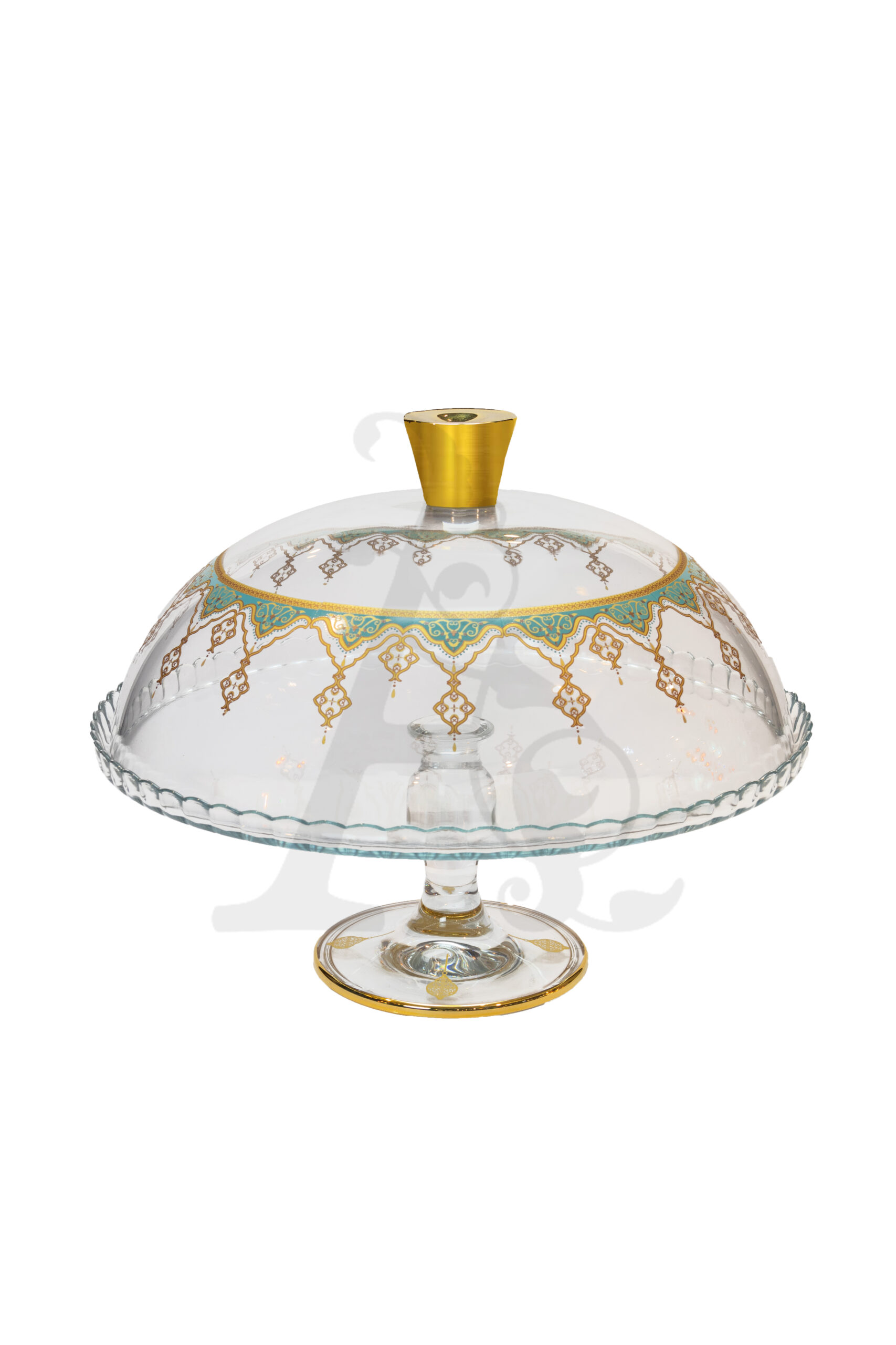 Buy Dessert Plate with Lid Green Border 95200