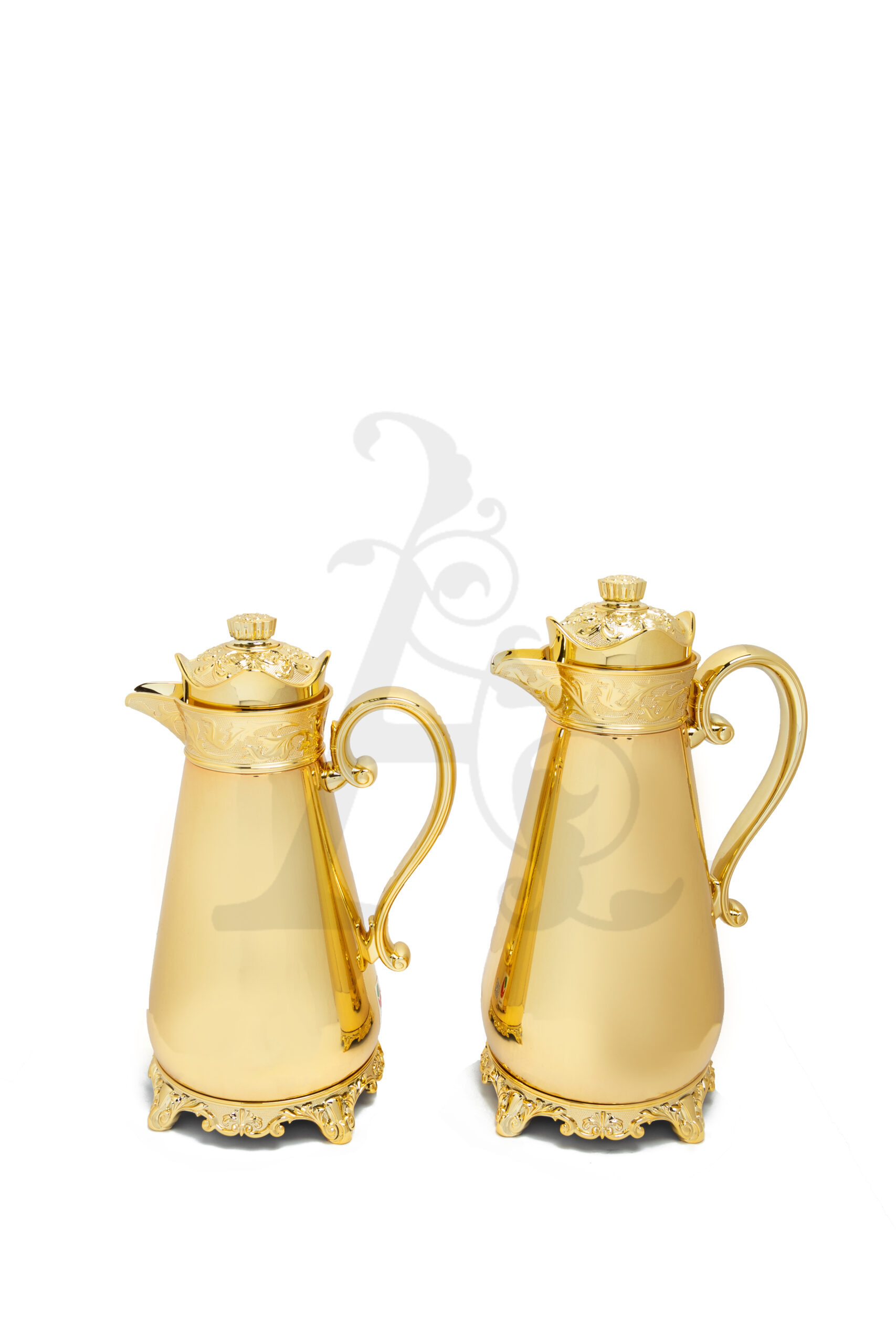 Buy Thermos Set 2 Pieces 0.7/1L Crown Top Gold