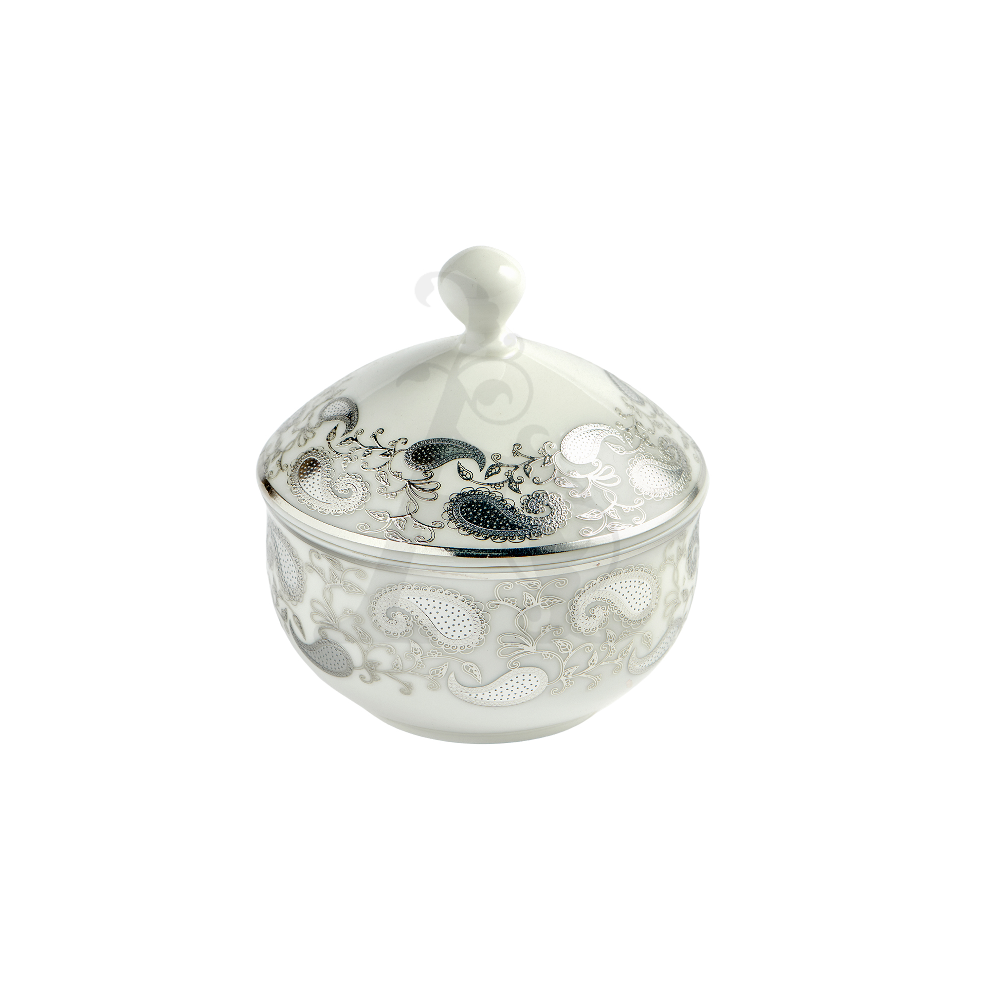 Buy Victoriana sugar pot with cover - Silver Décor 1