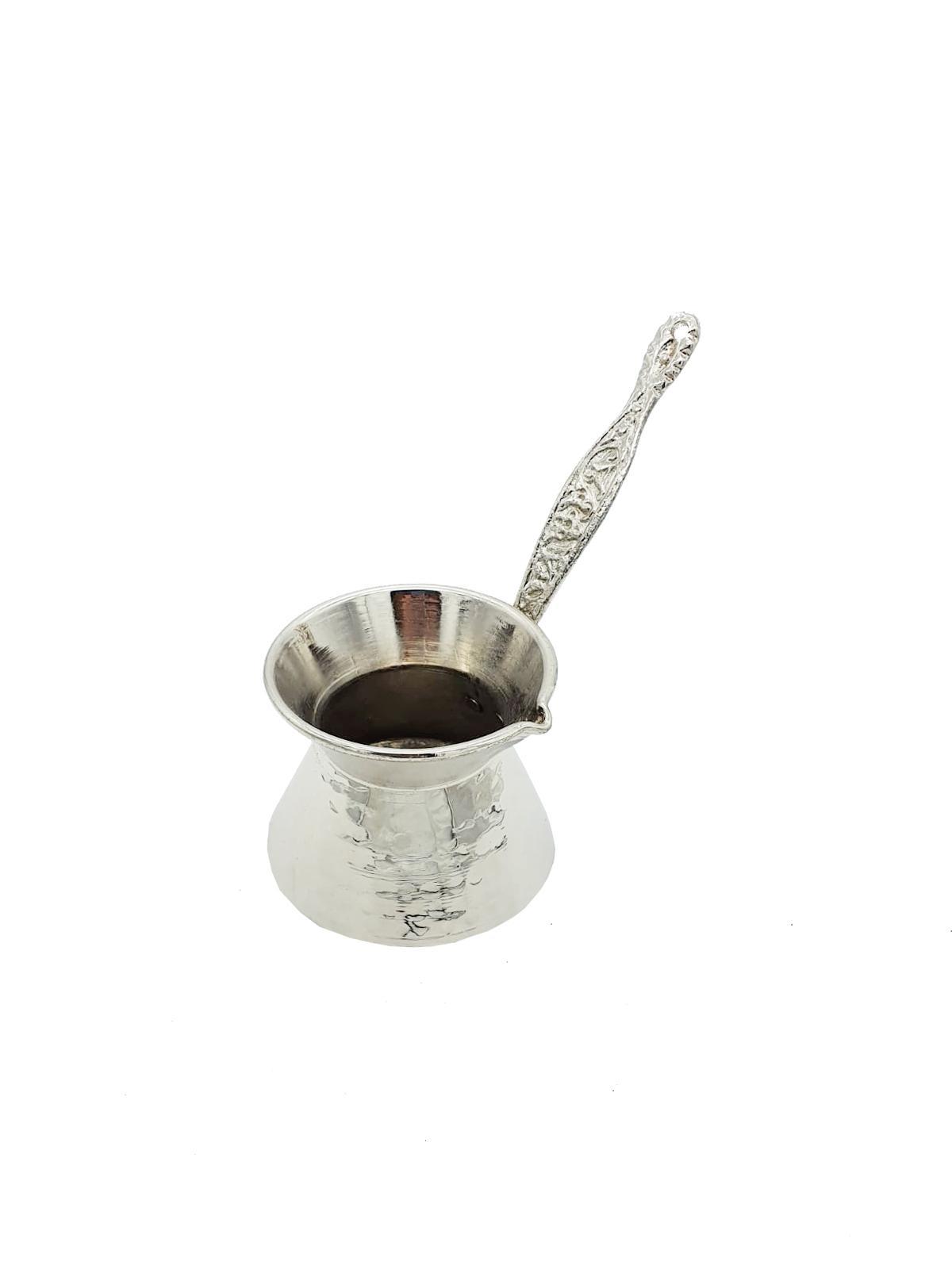 Buy Silver Coffee Pot with Silver Handle - Medium