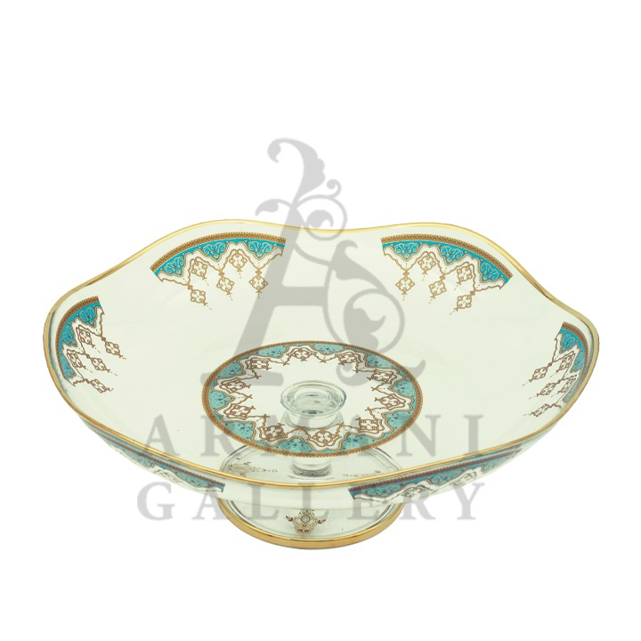 Buy Dessert Plate Green and Gold 95790