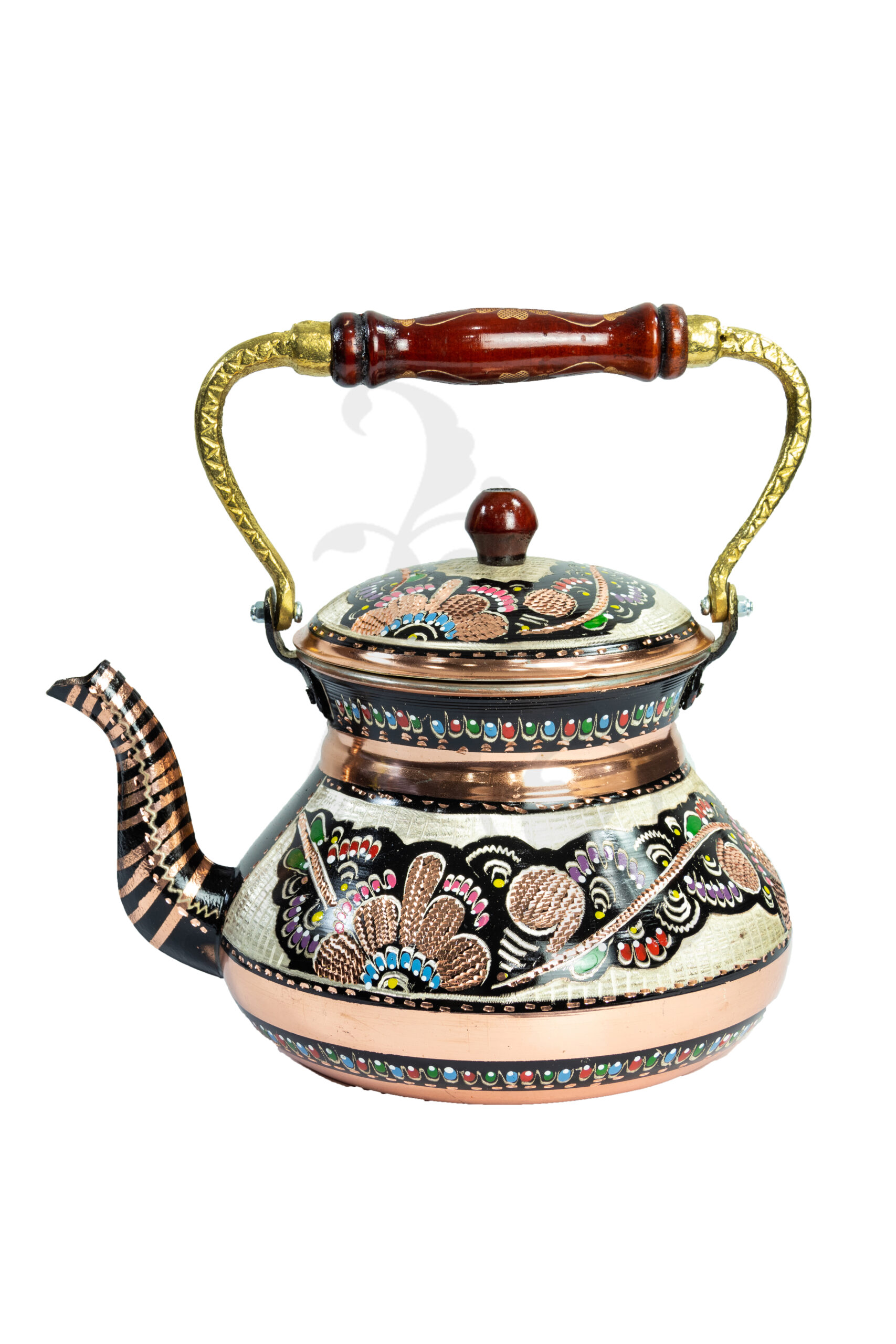 Buy Turkish Antique Style Hand Made Laser Etched Copper Tea Pot