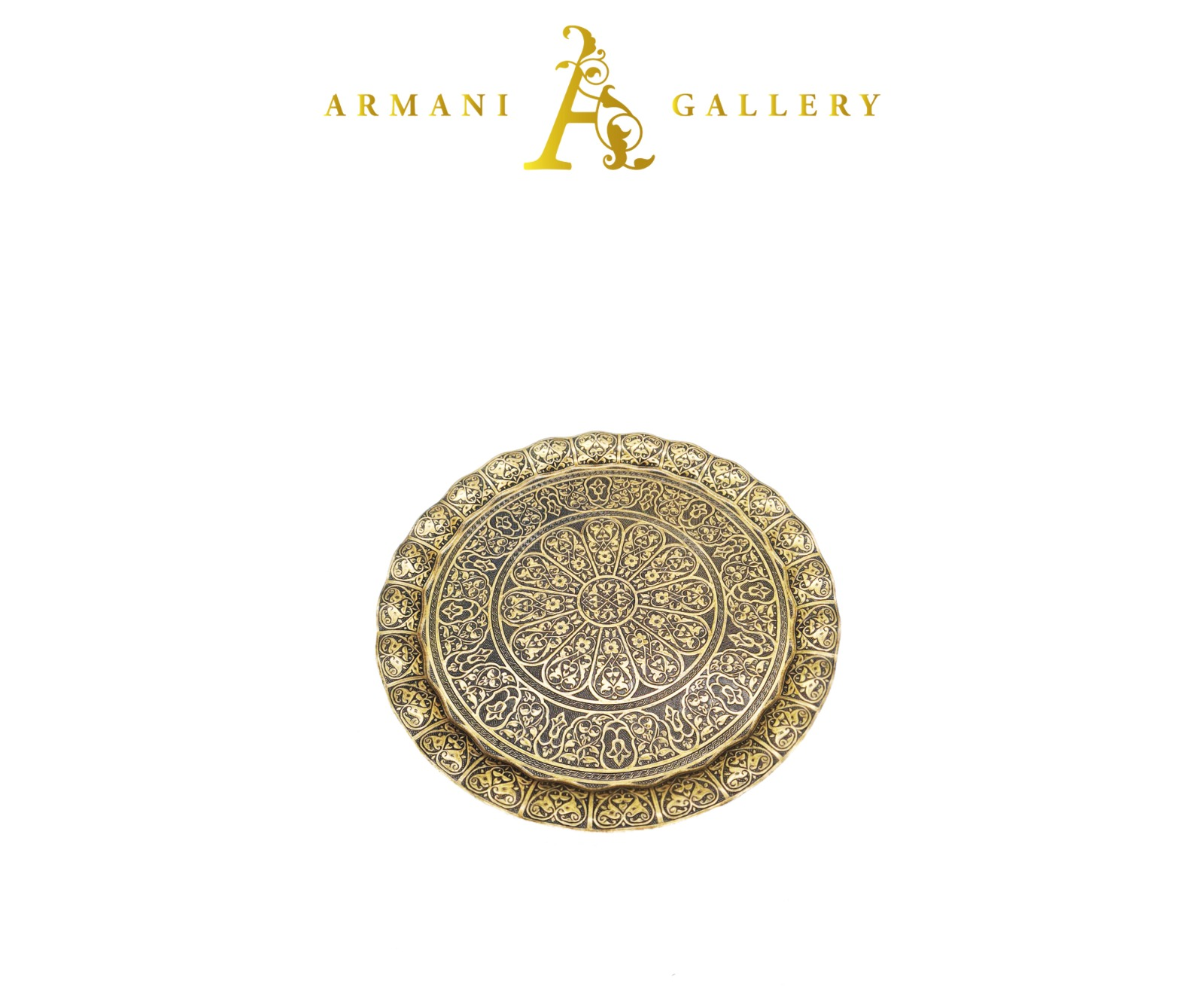 Buy Moroccan Round Tray - Copper
